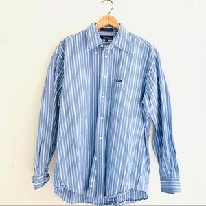 Faconnable Striped Button Down Dress Shirt